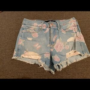 Hollister Flower Jean Shorts